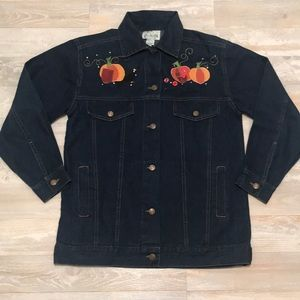 Quacker Factory Pumpkin Patch Dreams Denim jacket